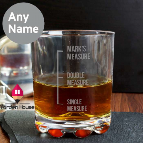 Personalised Measures Glass Tumbler